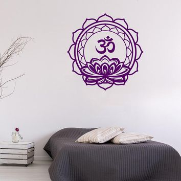 STIZZY Wall Decal Meditation Namaste Om Symbol Wall Sticker Lotus Mandala Flower Interior Yoga Studio Poster Buddha Decor A670