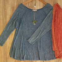 """""""Tracey"""" Mineral Wash Top, 2 colors"""