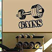 Dabbledown Gains and Weights Window Lettering Decal Sticker Decals Stickers