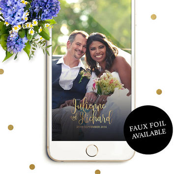 Wedding Snapchat Filter-Personalized Snapchat Geofilter for Wedding-Modern Calligraphy Snapchat Filter-Couple's Name Snapchat Filter