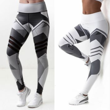 Women High Elastic Print Leggings