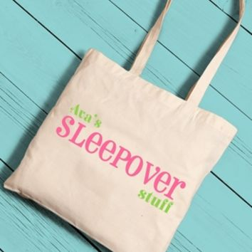 Girls Sleepover Tote