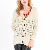 Early Bird Holey Cardigan - $44.00 : ThreadSence.com, Free-spirited fashion for the indie-inspired lifestyle