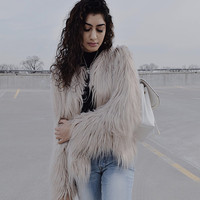 Princess K Faux Fur - Grey (S-XL)