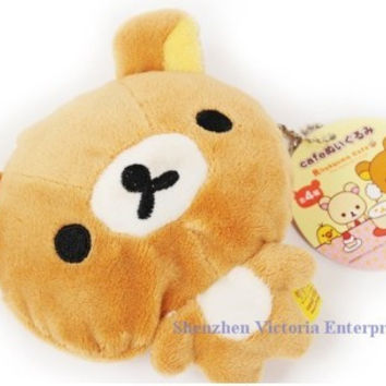 12PCS Kawaii HOT NEW SAN-X Sentimental Rilakuma Bear; Plush 12*11CM Coin Cash Purse & Wallet Pouch BAG Case; Change Case