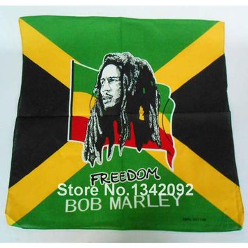 6pcs/lot Fashion hip-hop bandanas for unisex square headband scarf scarves BOB MARLEY rasta headkerchief cotton head wrap