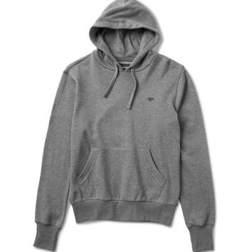 Diamond Brilliant Chest Hoodie In Heather Charcoal - Beauty Ticks