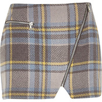 River Island Womens Blue check mini pelmet skirt