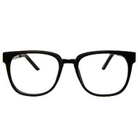 The I Can See Clearly Glasses in Matte Black