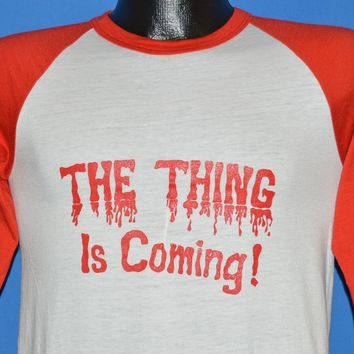 80s The Thing Is Coming Nebraska Cornhuskers t-shirt Small