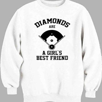 Diamonds Are A Girls Best Friend baseball Sweater for Mens Sweater and Womens Sweater *