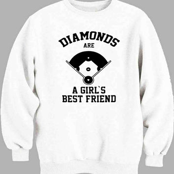 Diamonds Are A Girls Best Friend baseball Sweater for Mens Sweater and Womens Sweater ***