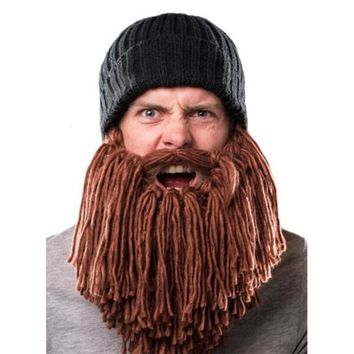 Men's Bearded Viking Beanie