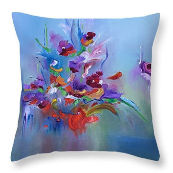 Art Throw Pillow with an image of original art Viktoriya Sirris decorative throw art pillow home decor accent pillow sofa cough art pillow