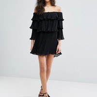 Stevie May Mercury Flounce Off Shoulder Dress With Ruffles at asos.com