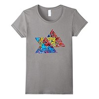 Graffiti Triangule Robots Colorful T-shirt Blue Red Yellow