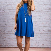 The Believer Dress, Royal Blue