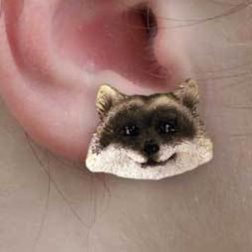 RACCOON EARRINGS POST