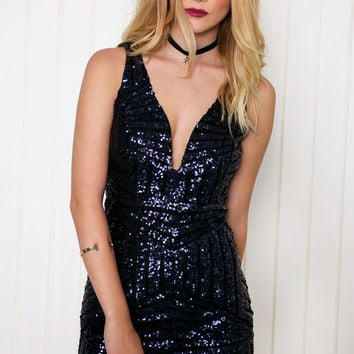 Alexia Sequin Bodycon Dress
