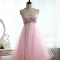 Adorable Pink A-line Sweetheart Mini Prom Dress