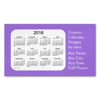 2016 Amethyst Business Calendar by Janz Magnet Magnetic Business Cards (Pack Of 25)