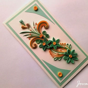Handmade greeting card/Quilling Card/Birthday cars/Wedding Card/Love you card