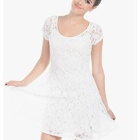 Sweetie Short Sleeve Lace Dress | $10.00 | Cheap Trendy Casual Dresses Chic Discount Fashion for Wo
