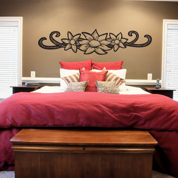 Vinyl Wall Decal Sticker Floral Wood Burn Tattoo #1190