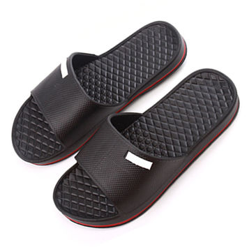 Senza Fretta Mens Slip On Sport Slide Sandals Flip Flop Shower Shoes Slippers House Pool Gym WS060