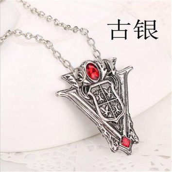 N705 Movie Film Jewelry Euro-American Pendant Necklace Twilight Moon Peaks Tower Clock Necklaces Collares