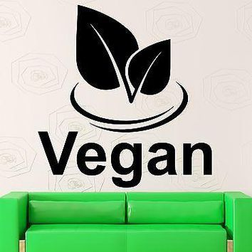 Wall Decal Vegan Health Nature Vinyl Stickers Art Mural Unique Gift (ig2598)