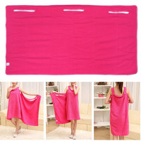140x75cm Soft Microfiber Magic Absorbent Dry Bath Beach Towel Bathrobe Skirt Dress Rose Red Skirt Dress Wrap Skirt Towels