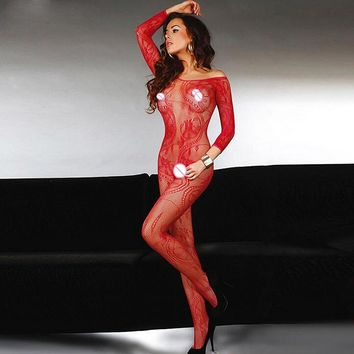 Sexy Lingerie Body-stockings Costumes Underwear Ladies Teddies Bodysuit