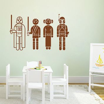 ik2716 Wall Decal Sticker Star Wars characters nursery teenager