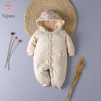 Overalls Children's Winter Baby Coat Babys Padded Cotton Outwear Baby Winter Clothes Baby Boy Girl Snowsuit With Cap Jumpsuit