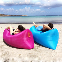 Outdoor portable foldable fast inflatable sofa bed lazy sofa
