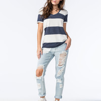 OTHERS FOLLOW Womens Striped Pocket Tee | Knit Tops & Tees