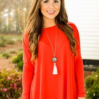 PIKO:Just About Anywhere Blouse-Persian Red