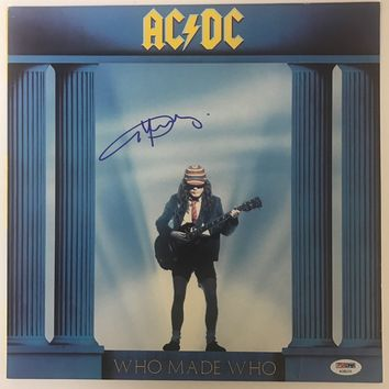 "Angus Young Signed Autographed ""Who Made Who"" AC/DC Record Album (PSA/DNA COA)"
