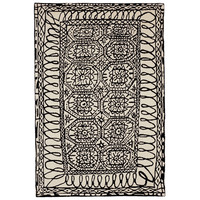 Nanimarquina Black On White/Black Estambul Area Rug