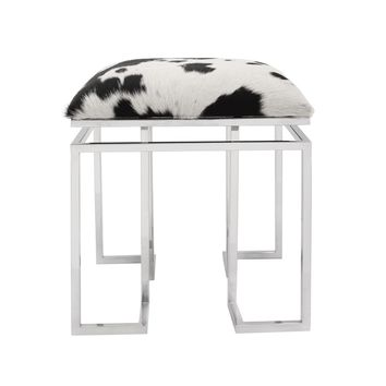 Appa Stool Unfinished Cow Hide Square