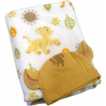 Disney Baby Bedding Lion King Blanket with Beanie - Walmart.com