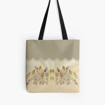'PRINTED ELEPHANT 180.' Tote Bag by sana90