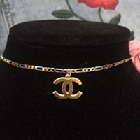 The Cc Gold 18kt Gp Choker Necklace // Free Gift