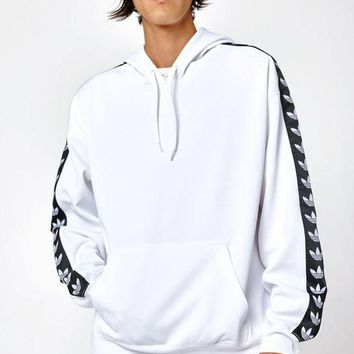 DCCKYB5 adidas TNT Tape White and Black Pullover Hoodie