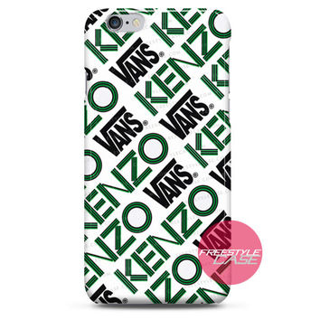 Kenzo and Vans Logo Artwork iPhone Case 3, 4, 5, 6 Cover