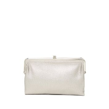 Urban Expressions Women's Silver Sandra Vegan Leather Clutch Wallet