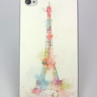 iphone 4 case iphone 4s case Colourful Eiffel Tower Hard iphone 4 Cover