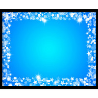 Digital Star Frame, Christmas Overlay, Photoshop Overlays for Portraits, Xmas, Scrapbooking, Card Making