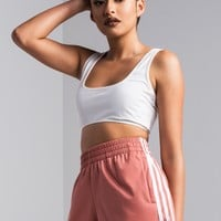 adidas 3 Stripe Women's Shorts in AshPink